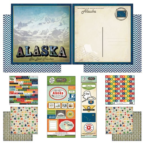 - Scrapbook Customs Themed Paper and Stickers Scrapbook Kit, Alaska Vintage