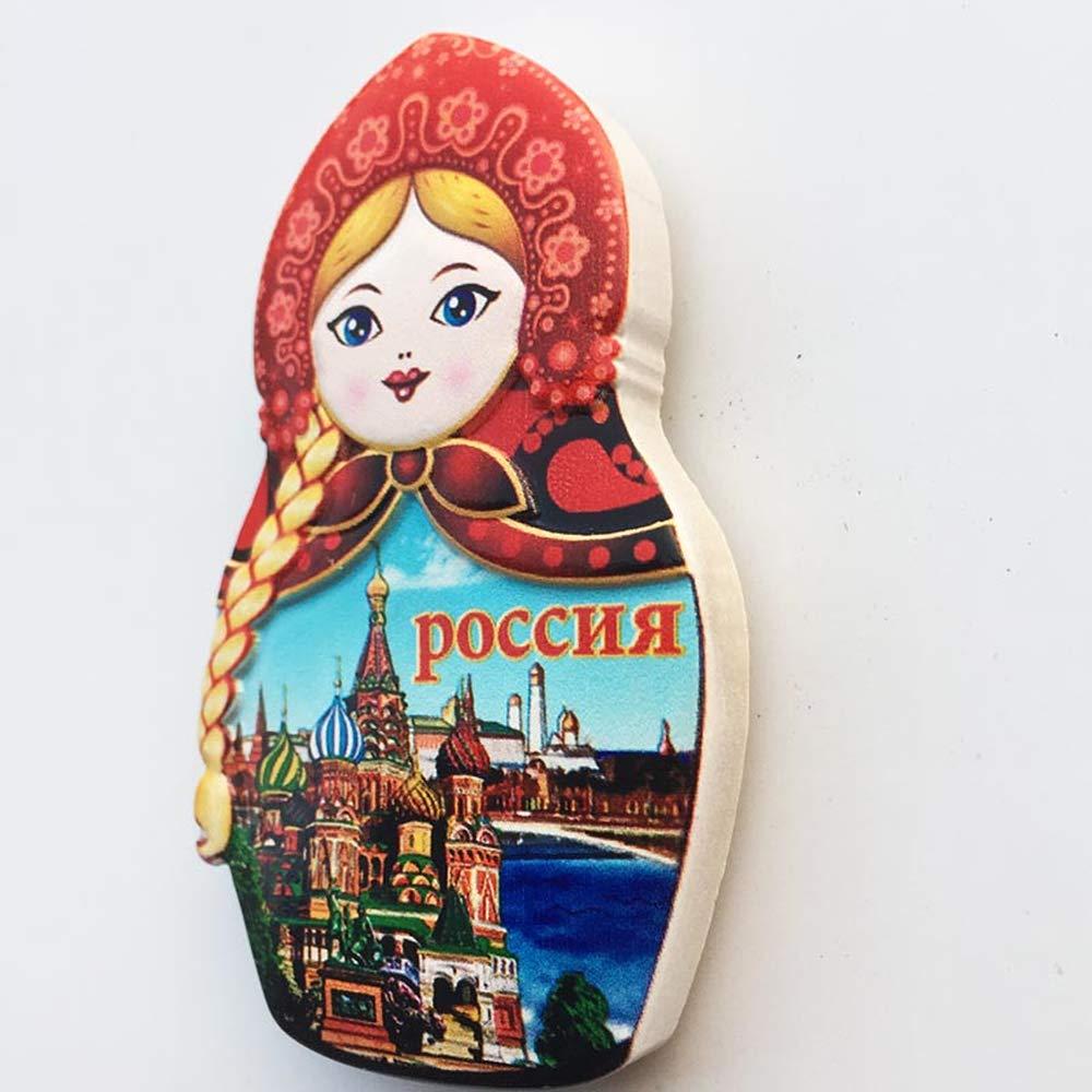 MUYU Magnet Imán para Nevera con Forma de muñeca Rusa en 3D ...