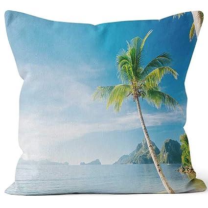 Amazon.com: Nine City El Nido Las Cabanas Beach Throw Pillow ...