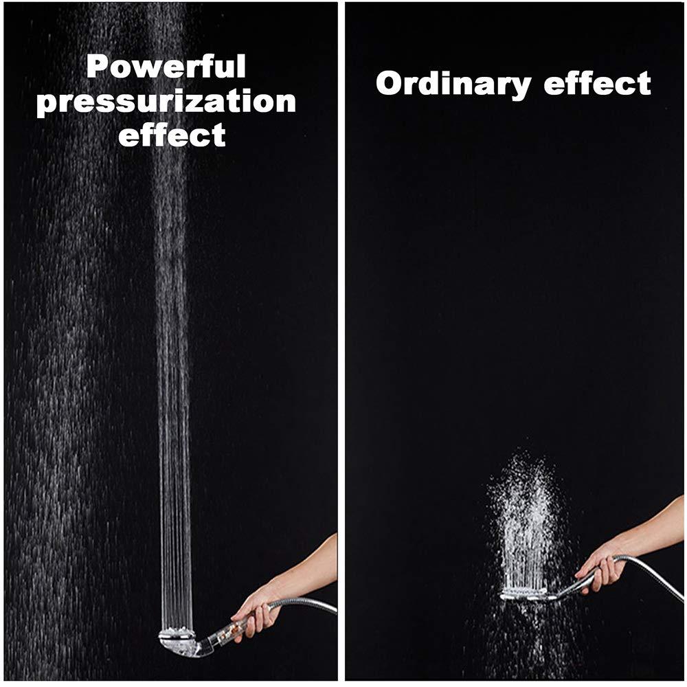 GAVAER Soffione Doccia Anticalcare ad Alta Pressione con 3 Funzione Modalit/à di arresto,Ammorbidisce lacqua dura,50/% di risparmio idrico e Di sfere extra filtro minerali Filtro.
