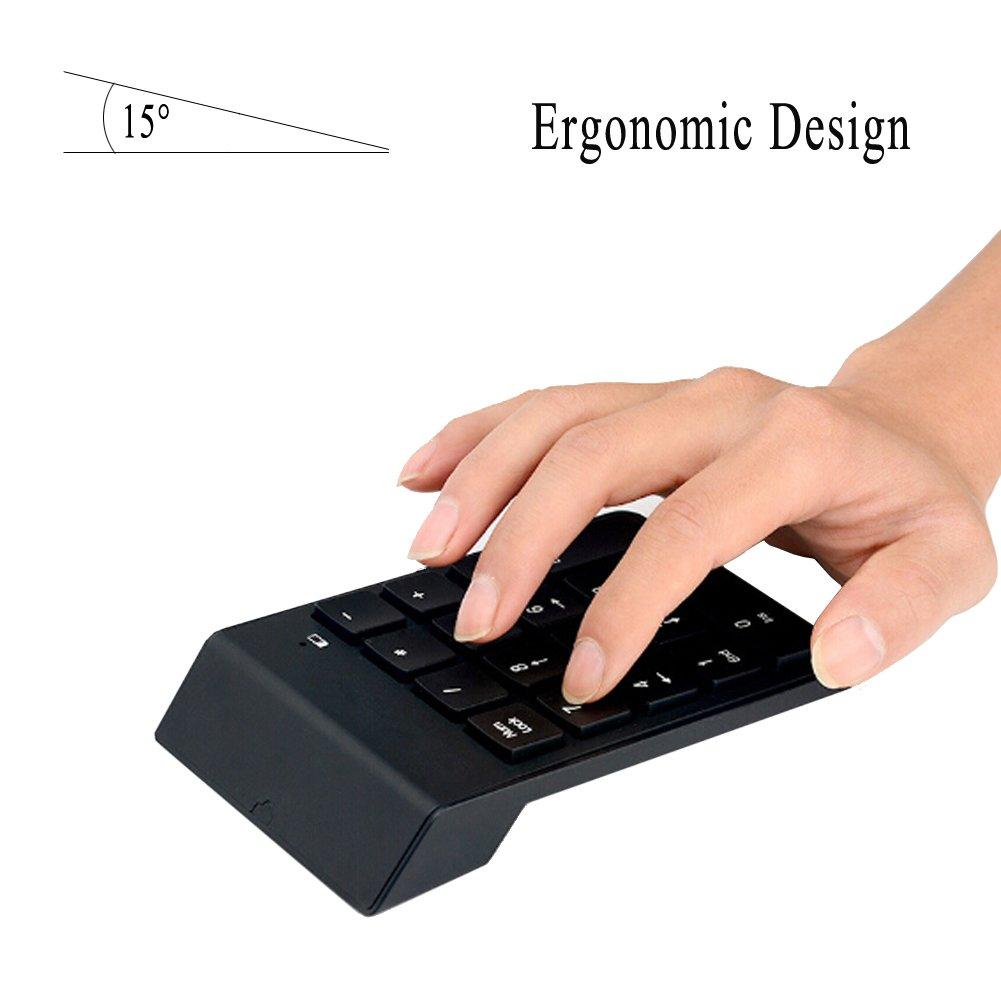 Wireless Numeric Keypad, Vanpower 18 Keys Numpad Portable Keyboard with 2.4G Mini USB Number Pad Receiver for Laptop, Desktop, PC, Notebook