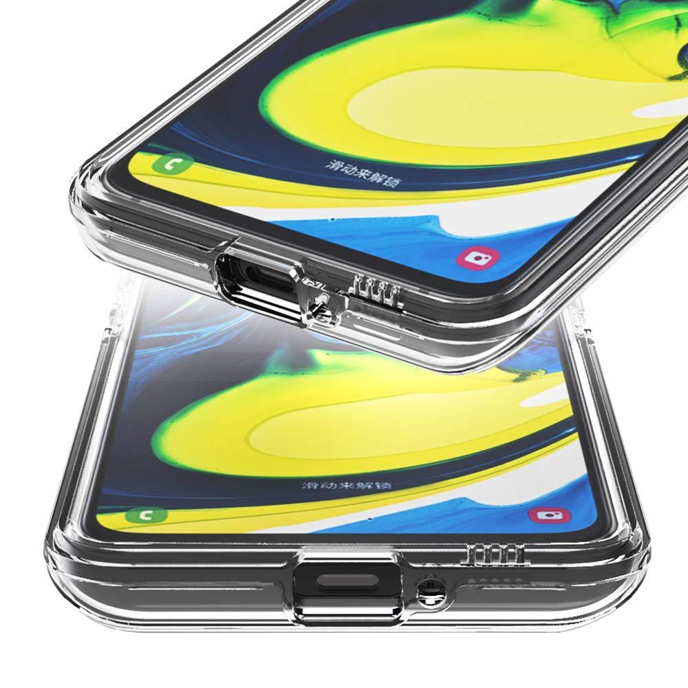 EuCase Cover per Samsung A20E Custodia Samsung A20E Silicone Trasparente Morbido Cover Samsung A20E Antiurto Ultra Sottile TPU Protettivo Bumper Case Cover