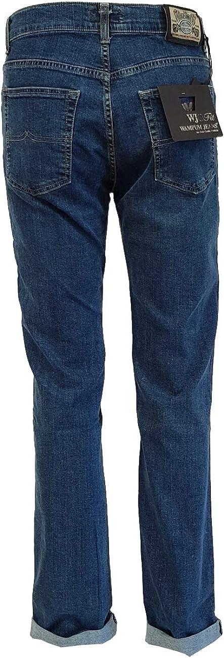 Wampum jeans pantalone 5 tasche uomo classic regular fit vita alta 11604-1556