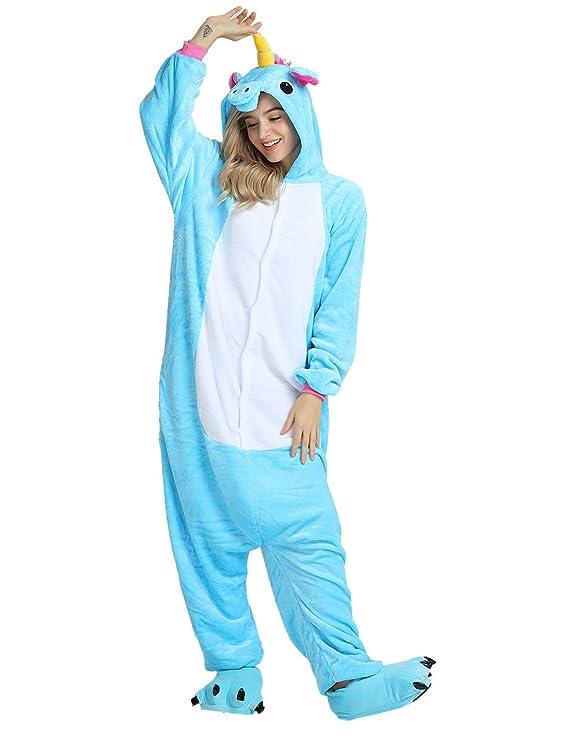 Kigurumi Pijamas Enteros Disfraz Unicornio Traje Animal Cosplay Adulto Onesie Ropa de Dormir Regalo para Carnaval Halloween Navidad: Amazon.es: Ropa y ...