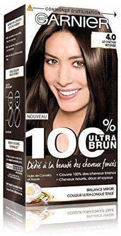 Garnier – 100% Ultra marrón – Tinte castaño permanente intenso –