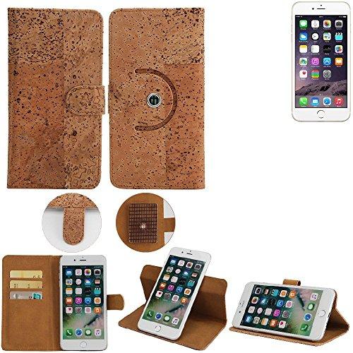 Korkhülle Wallet Case Schutzhülle für Apple iPhone 6s, Kork Case Walletcase Portemonnaie Schutz Hülle Flip cover Smartphone Tasche - K-S-Trade(TM)