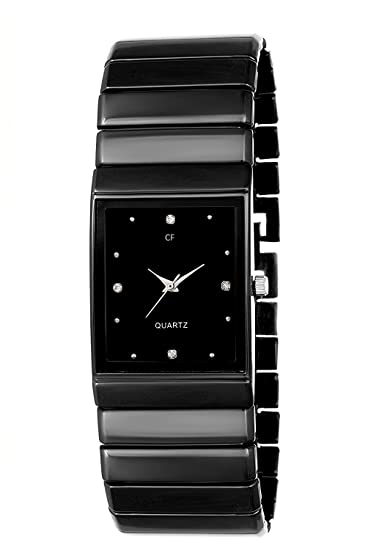 24c597ebc0e Buy Capture fashion Square Model Analogue Black Dial and Stainless ...