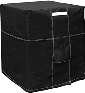 "LBG Products Outside Square Black Air Conditioner Cover for Central AC Condenser Units (28"" L x 28"" D x 32"" H)"