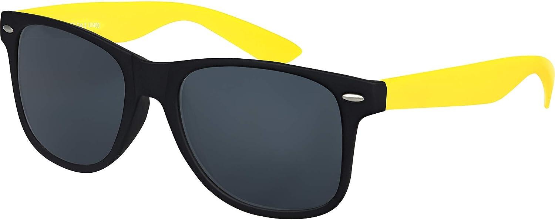 Herren Damen Sonnenbrille Vintage Nerd Retro 100/% UV-400 silber verspiegelt
