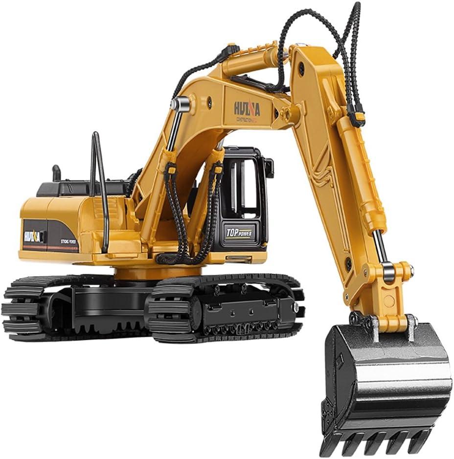 stobok Niños juguete excavadora Camiones coches 1: 50metal Engineering Vehículo de juguete para niños Regalos