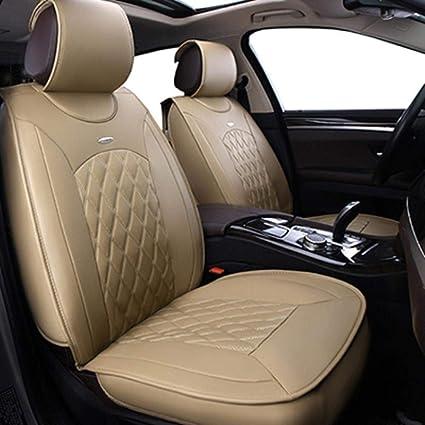 Amazon.es: Cubierta de asiento de coche universal cojín de piel de ...