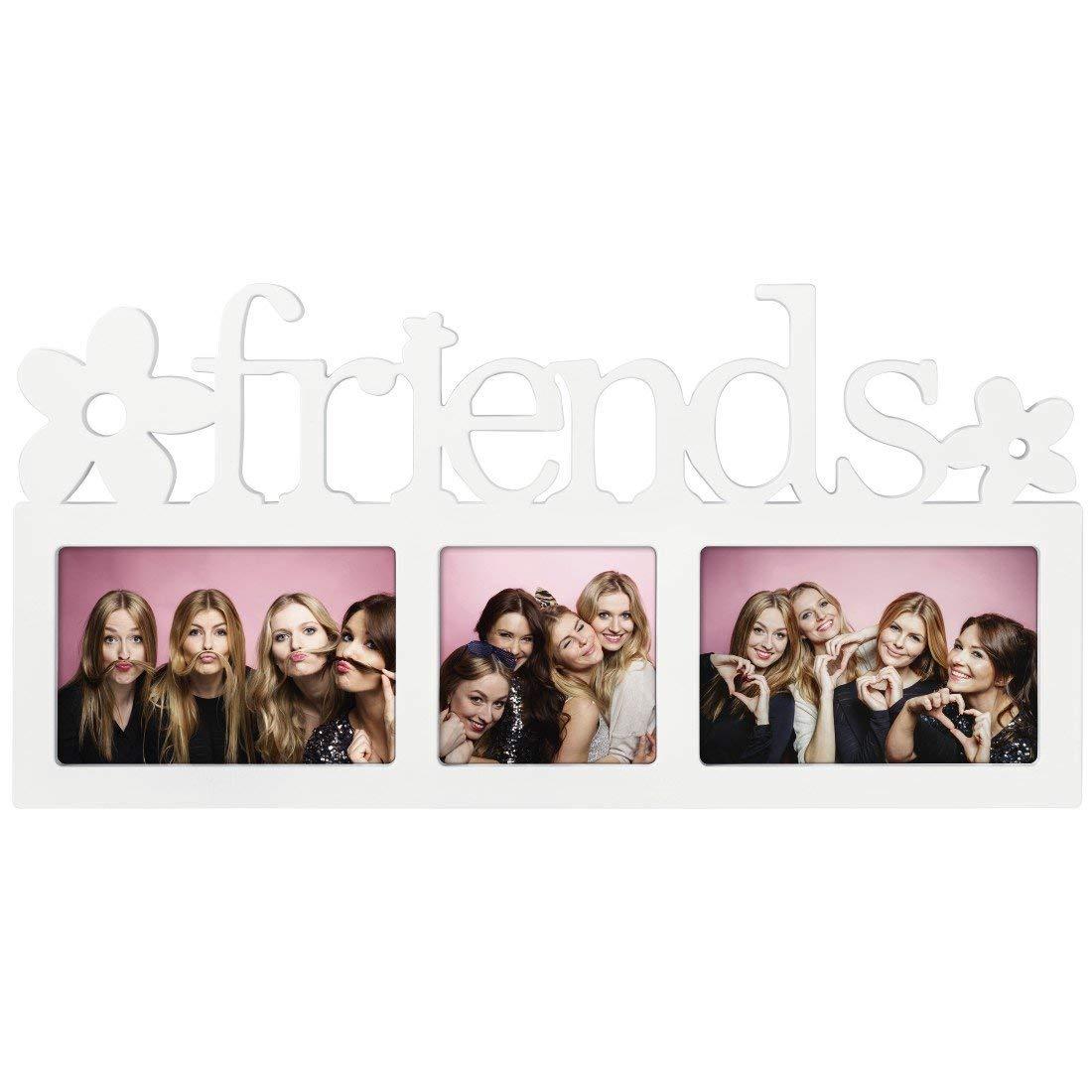 Hama Montreal - Friends Blanco Portafotos múltiple - Marco (Sintético, Blanco, Portafotos múltiple, 10 x 15 cm, 10 x 10 cm, Reflectante): Amazon.es: Hogar