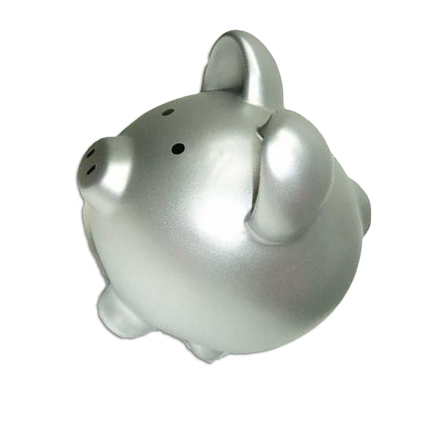 "Completely Custom {13"" x 13'' Inch} 1 Single Large, Coin & Cash Bank Decoration for Holding Money, Made of Grade A Genuine Ceramic w/ Contemporary Solid Matte Bank Piggy Style {Silver & Black}"