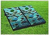 VINYL WRAPS Cornhole Boards DECALS Marine Life Ocean BagToss Game Stickers 366