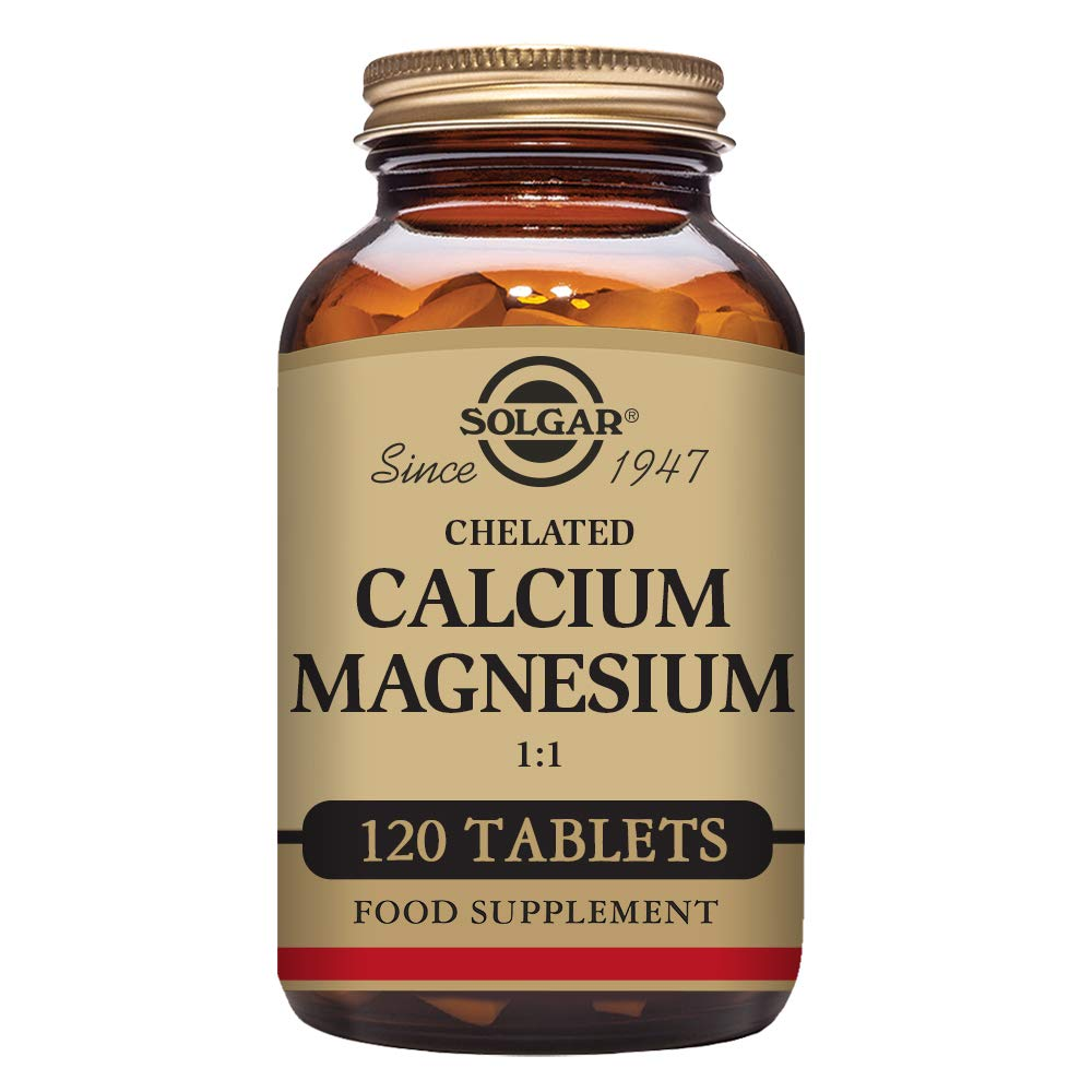 Amazon.com: Solgar Chelated Calcium Magnesium 1:1 Tablets, 120 Count: Health & Personal Care