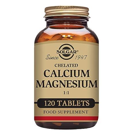 Solgar Calcio Magnesio Quelado 1:1-120 Tabletas