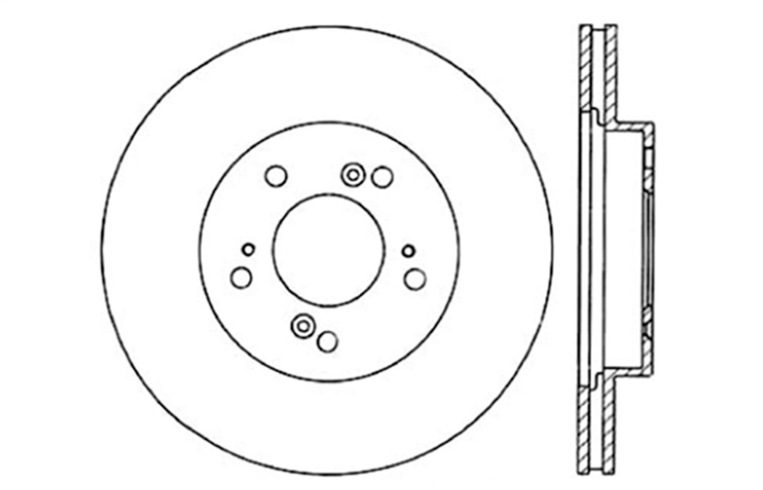 StopTech 128.40026L Cross Drilled Rotor