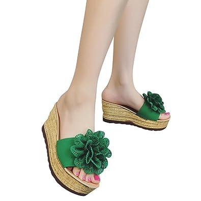 379b0027bee Ratoop Women Sandals Summer Transparent Platform Waterproof Sandals Rivet Wedge  Sandals High Heels Green