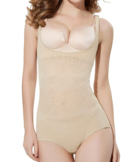 a81f739c89f4e Image Unavailable. Image not available for. Color  FUT Women Body Shaper  Open Bust Shapewear Firm Control Bodysuit
