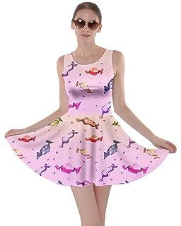 CowCow Womens Cookies Lollipop Candy Macaroon Icecream Coffee Food Dessert Skater  Dress d4954d812