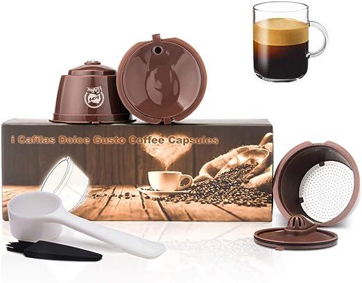 i Cafilas Filtros Cápsulas de Café Reutilizable para Dolce Gusto ...