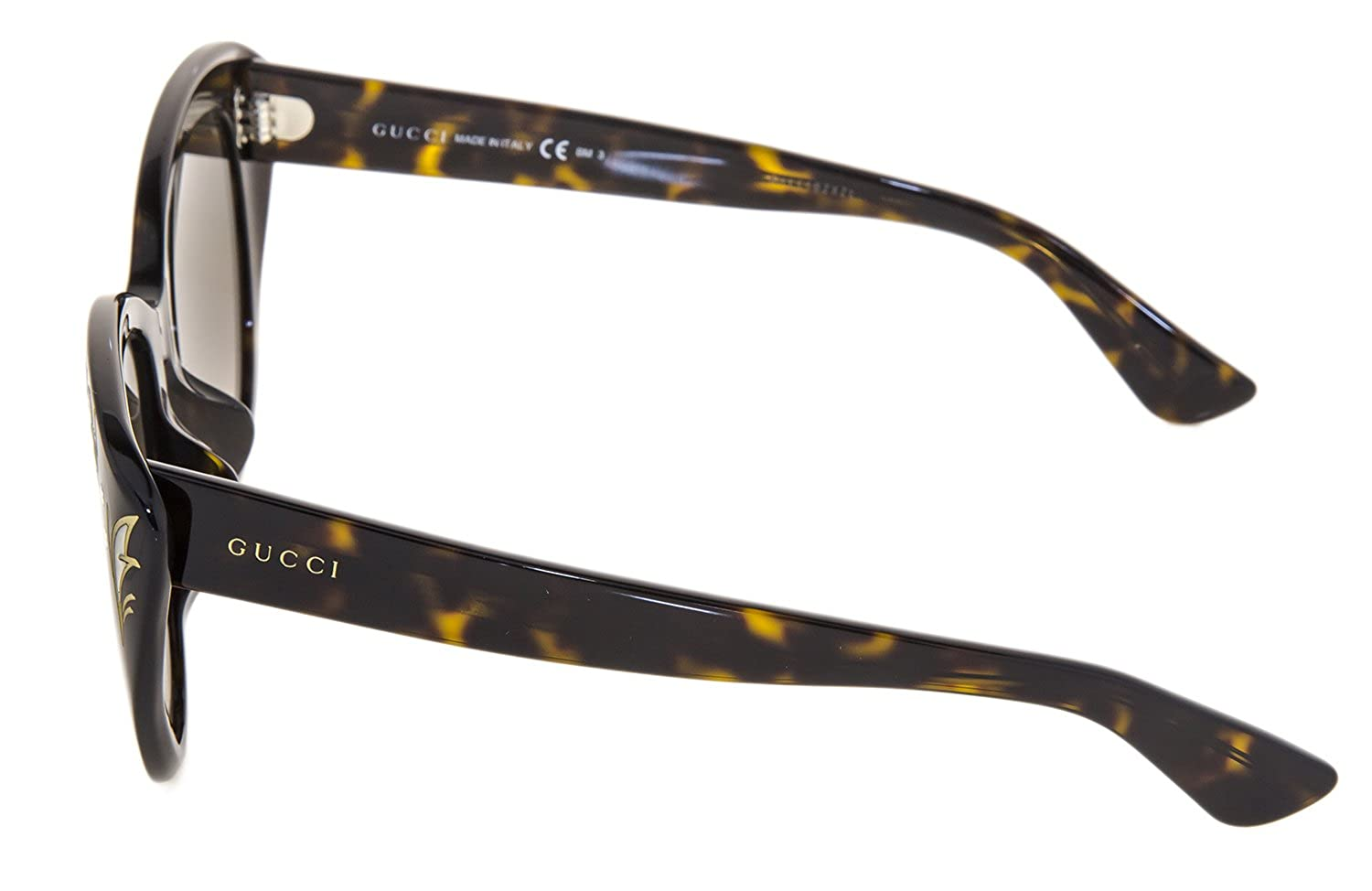 6249487c8 Amazon.com: GUCCI GG3828/F/S Brown Havana Mother Of Pearl Oversized Cat Eye  Sunglasses ASIAN FIT 3828: Clothing