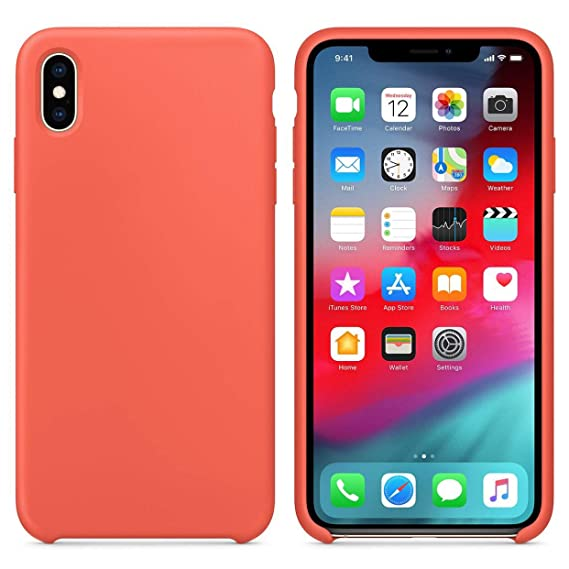 on sale 56349 bd28d The iPhone Xr Liquid Silicone Case Features Soft TPU Edge Protection for  Perfect iPhone Xr Impact Resistance. (Apricot Peach)