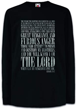 3078c301 Amazon.com: Ezekiel 25:17 Kids Boys Girls Long Sleeve T-Shirt Pulp Fiction  Vincent Vega Movie Tarantino Gangster Shirt Black: Clothing