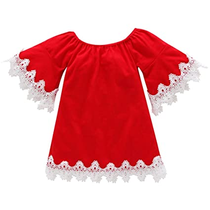 little girl christmas dressjchentm fashion toddler kid baby girls flare sleeve - Girl Christmas Dresses