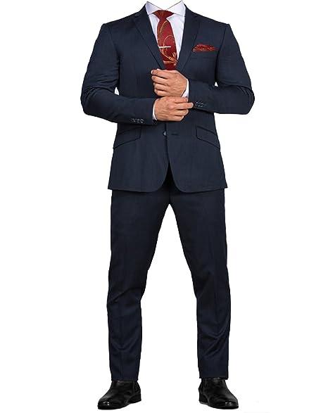 Amazon.com: Concord trajes moderno Slim Fit, azul marino ...