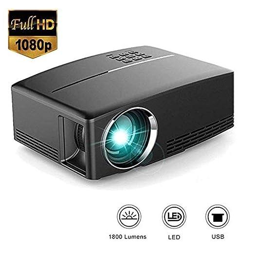 MNJR Proyector Proyector de Video HD, HD LED LCD Proyector de ...