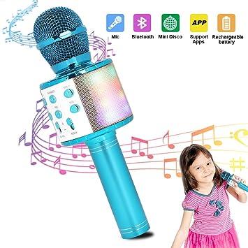 HALOVIE Microfono Inalámbrico Karaoke, Micrófono Karaoke Bluetooth ...