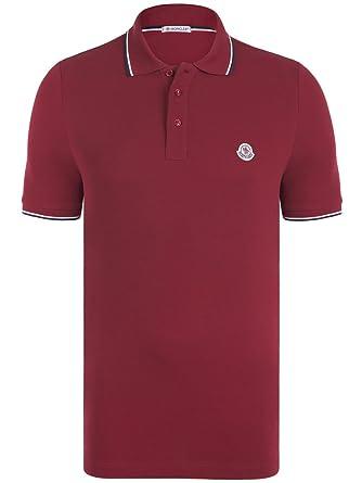 MONCLER Polo Homme Rouge Modello (M)  Amazon.fr  Vêtements et ... 89ed4bc8107