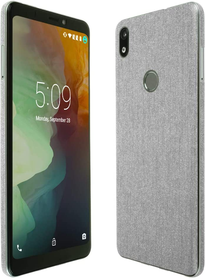 TechSkin with Anti-Bubble Clear Film Screen Protector Full Coverage Skinomi Brushed Aluminum Full Body Skin Compatible with ZTE Warp Sync