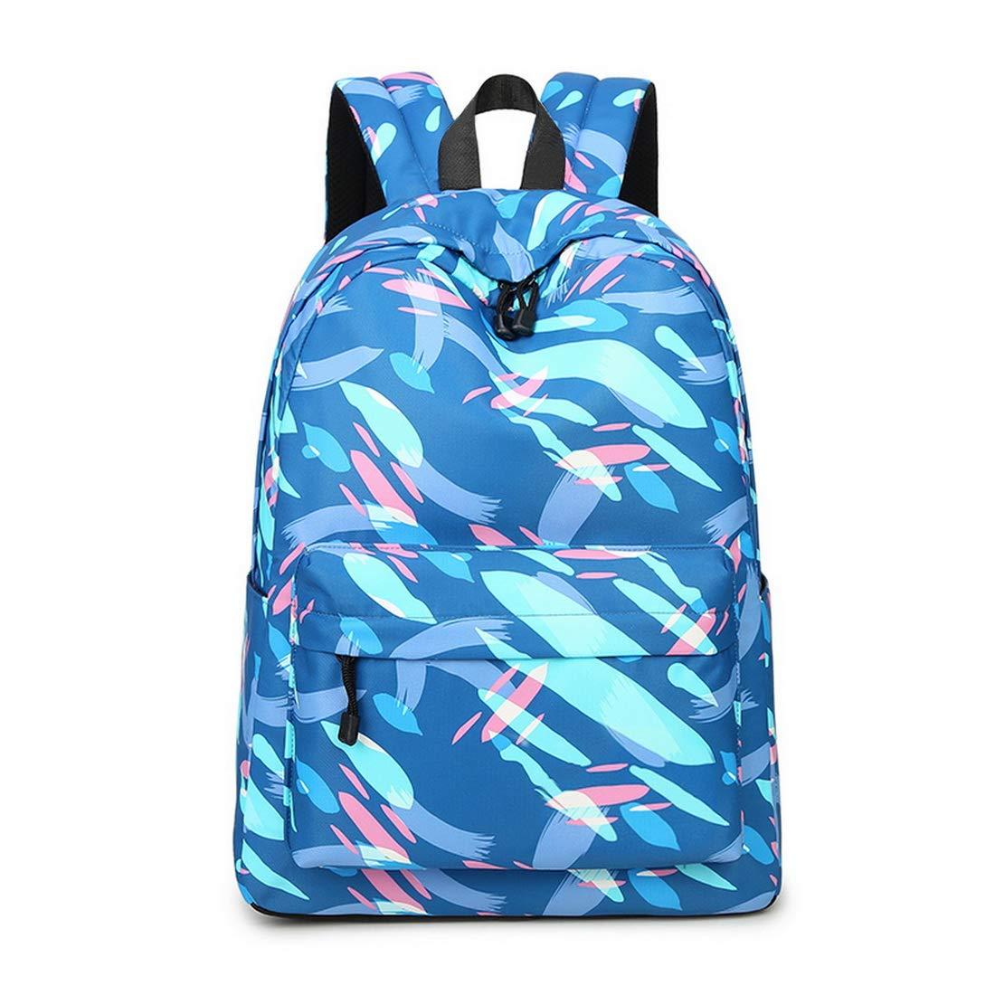 Acmebon Léger d'impression de Mode 14inch Portable School Sac à Dos pour Les Filles de l'adolescence et Les garçons Sac à Dos des Femmes Bleu Graffiti 626