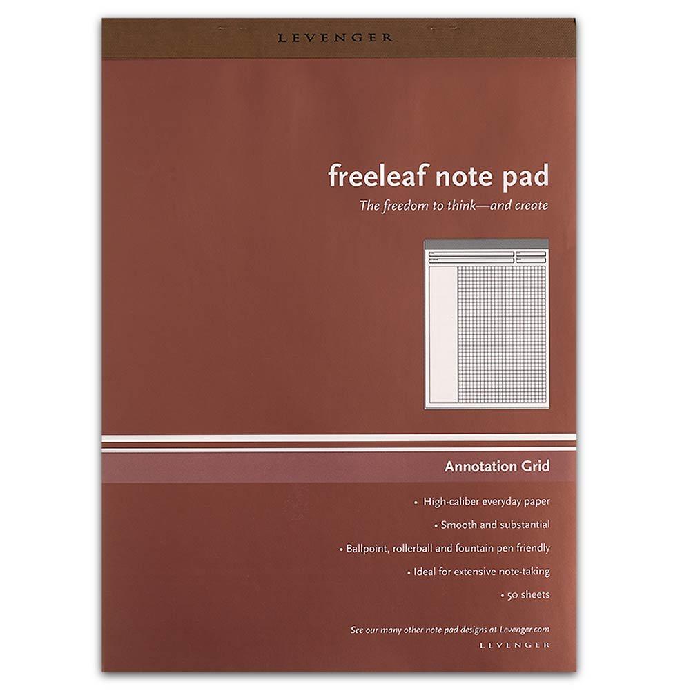 Levenger Freeleaf Annotation Grid Pads, Letter (5) (ADS5590) by Levenger
