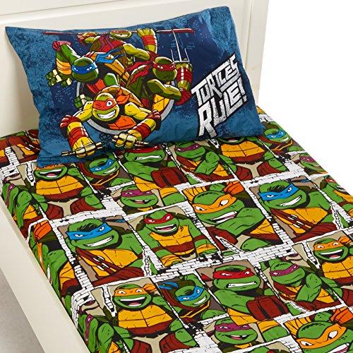 Jay Franco Nickelodeon Teenage Mutant Ninja Turtles Dark Ninja Twin Sheet ()