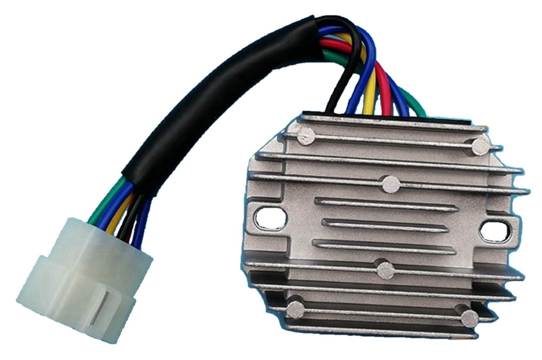 Tuzliufi Voltage Regulator Rectifier Repl Kubota tractor Grasshopper Lawn Mower Cub Cadet Kokusan Denki Perkins Engine Yanmar RTV 500 185530 RS5101 1822D 718D 721D 721G RP201-53710 19267-64600 Z254