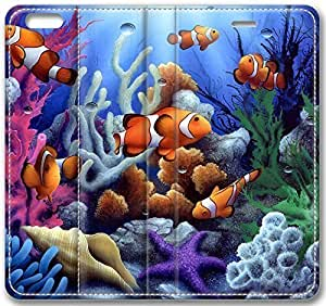 Animals Colorful Underwater Coral And Fish Case for iPhone 6 Plus 5.5 inch(Compatible with Verizon,AT&T,Sprint,T-mobile,Unlocked,Internatinal) in GUO Shop
