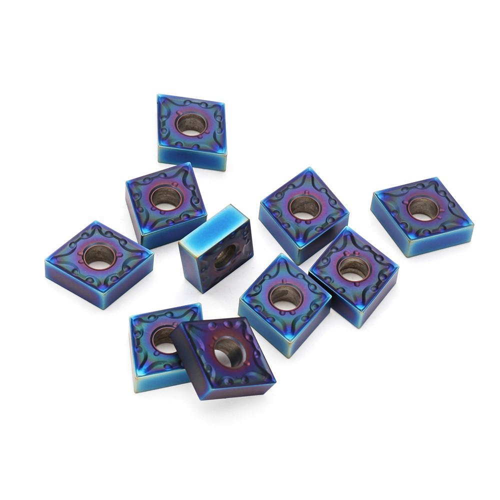 10pcs HRC45 Blue Nano CNMG120408-MA US735 Carbide Insert for MCLNR//L Turning Holder Cutting Tool Carbide Insert-10 x CNMG120408-MA US735 Carbide Inserts