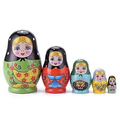 1 Juego de muñecas Rusas de Madera pintadas de Color de anidación Matryoshka muñecas Juguetes Regalos (Color : Pattern4): Juguetes y juegos