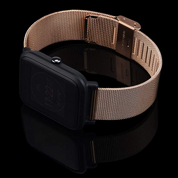 Amazon.com: iZZZHH Milanese Stainless Steel Bracelet Watch Band Milanese Loop with Magnetic Closure for Huami Amazfit Bip Youth Watch (Rose Gold): Cell ...