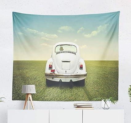 Amazon.com: Summor Vintage-Car Wall Tapestry,Tapestry Wall ...