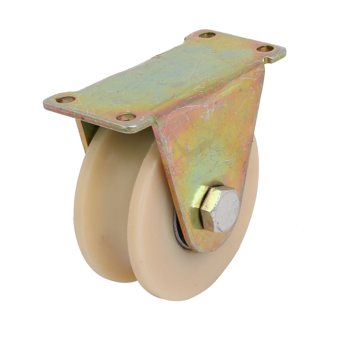 uxcell 3-inch Dia 300KG Capacity U Groove Rigid Caster Wheel for Industrial Machines