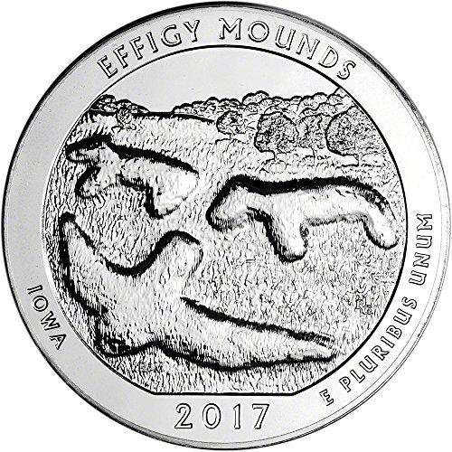 2017 ATB Silver (5 oz) Effigy Quarter Brilliant Uncirculated US Mint