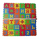 Le yi Wang You 36Pcs/Set Russian Alphabet Jigsaw Carpet EVA Baby Kids Puzzle Learning Mat Toy