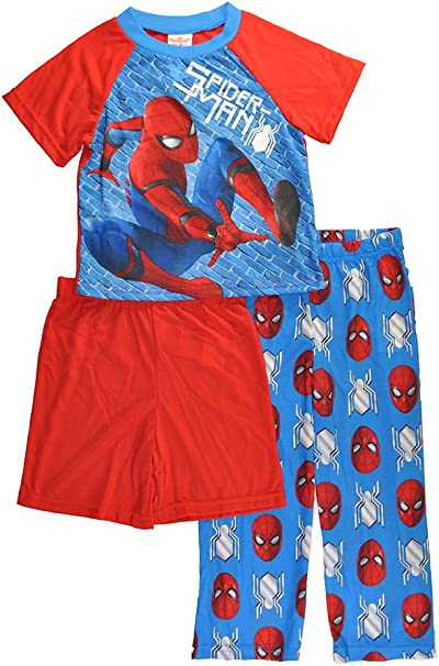 Spider-Man Little Boys Blue Character Print 2pc Pajama Pant Set