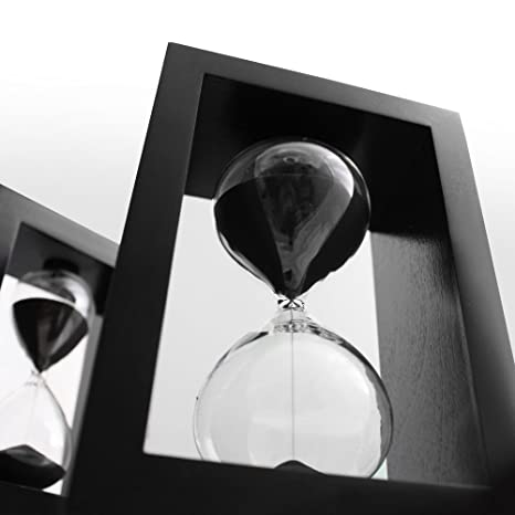 amazon com sand timer hourglass black set time management system