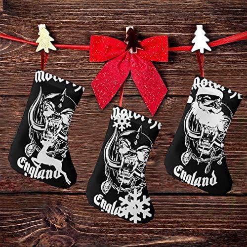 クリスマスの日の靴下 (ソックス3個)クリスマスデコレーションソックス Motorhead クリスマス、ハロウィン 家庭用、ショッピングモール用、お祝いの雰囲気を加える 人気を高める、販売、プロモーション、年次式
