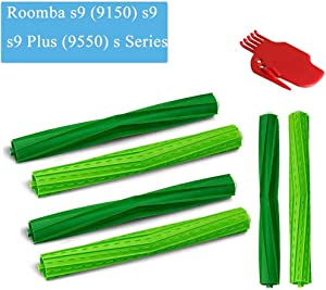 CBT Supply Replacement for iRobot Roomba s9 (9150) s9+ s9 Plus (9550) S Series Vacuum Cleaner Rubber Brushes (3 Set)